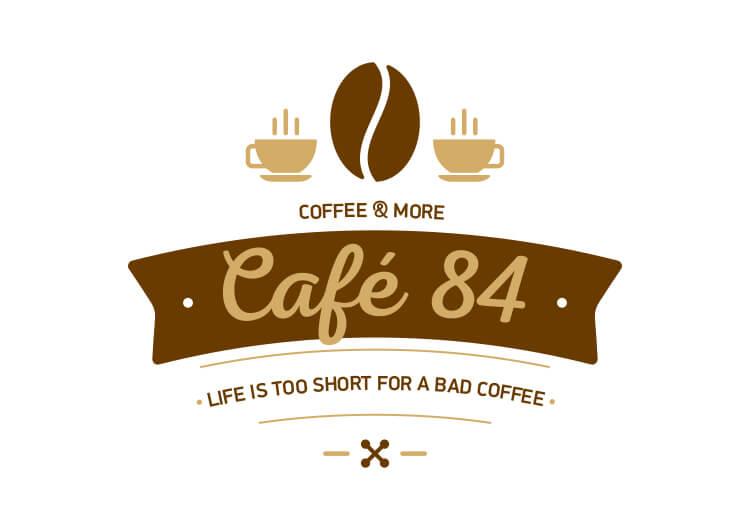 LOGO CAFE 84 2 VERSIONS 1