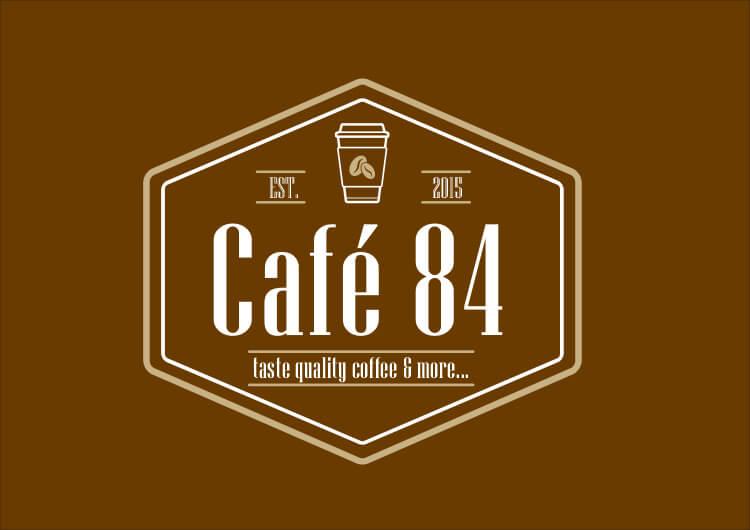 LOGO CAFE 84 L 3 1