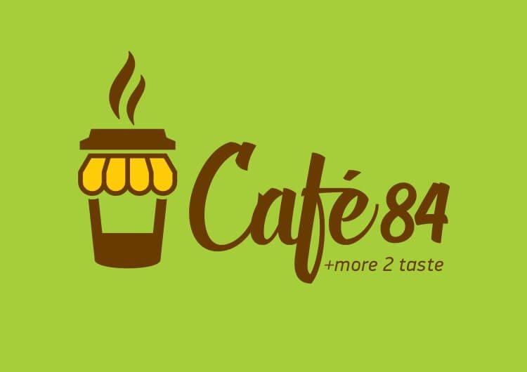 LOGO CAFE 84 L 3 4