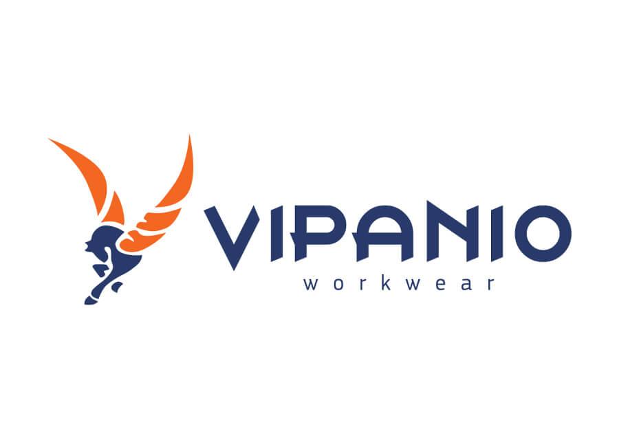 Σχεδιασμός λογοτύπου από γραφίστα για VIPANIO workwear στη Γερμανία