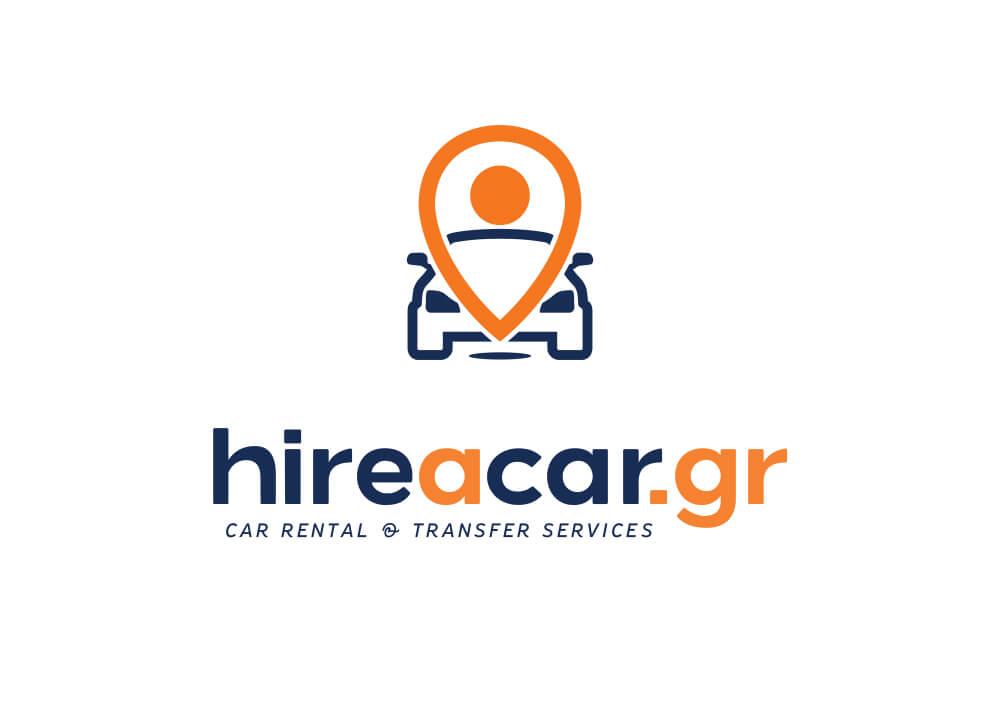 Σχεδιασμός λογοτύπου από γραφίστα για hire a car services στη Μύκονο